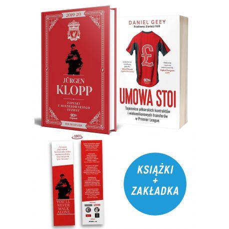 Pakiet: Jürgen Klopp. Zapiski z mistrzowskiego sezonu (zakładka gratis) + Umowa stoi