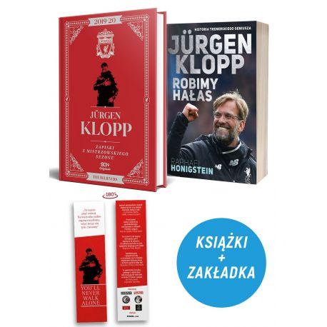 Pakiet: Jürgen Klopp. Zapiski z mistrzowskiego sezonu (zakładka gratis) + Jurgen Klopp. Robimy hałas