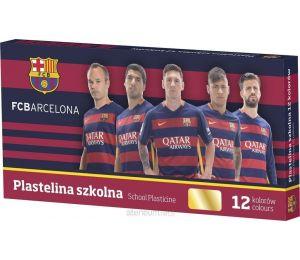Plastelina szkolna FC Barcelona 12 kolorów