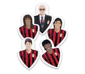 Zestaw 5 zakładek AC Milan z retro postaciami