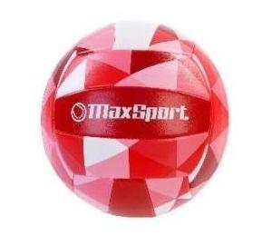 Piłka siatkowa Max Sport czerwono-różowo-biała