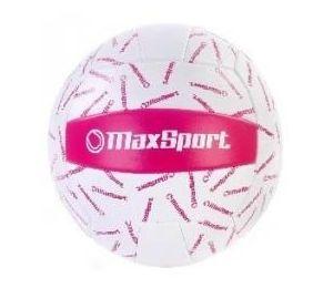 Piłka siatkowa Max Sport biało-różowa