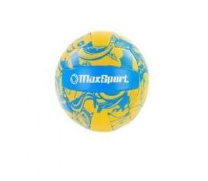 Piłka siatkowa Max Sport żółto-niebieska