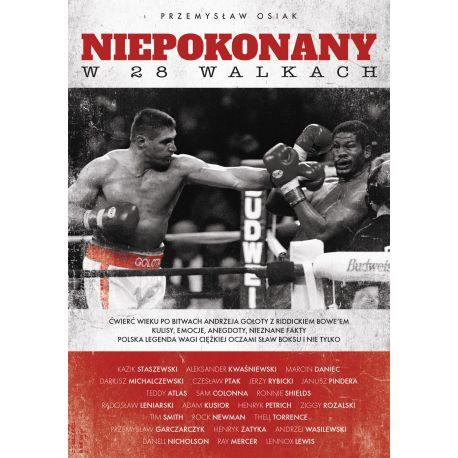 Okładka książki Niepokonany w 28 walkach w księgarni sportowej Labotiga