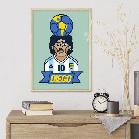 Plakat Diego 10 argentyński 297 x 420 mm (w tubie) A3