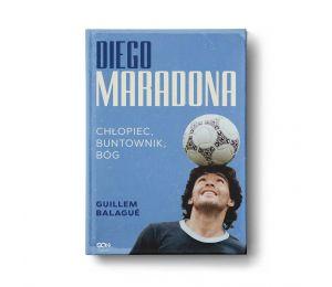 Okładka książki Diego Maradona. Chłopiec, buntownik, bóg w księgarni sportowej Labotiga