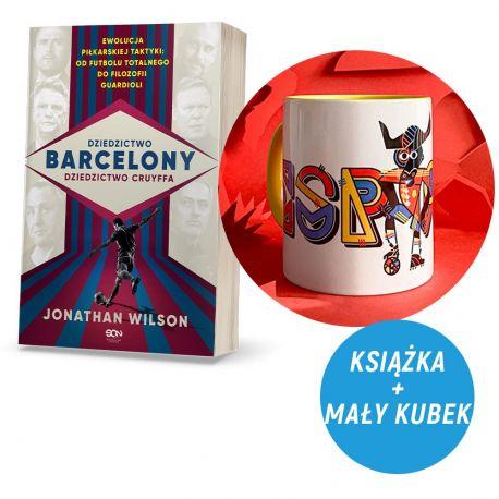 Zdjęcie pakietu Dziedzictwo Barcelony, dziedzictwo Cruyffa (pocztówki gratis) + Kubek 330 ml Byk z Hiszpanii