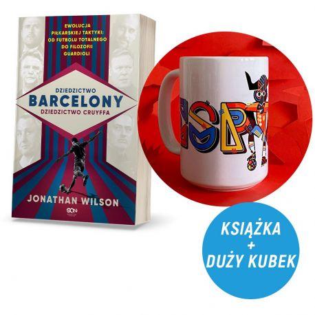 Zdjęcie pakietu Dziedzictwo Barcelony, dziedzictwo Cruyffa (pocztówki gratis) + Kubek 430 ml Byk z Hiszpanii
