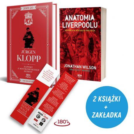 Pakiet: Jürgen Klopp. Zapiski z mistrzowskiego sezonu (zakładka gratis) + Anatomia Liverpoolu