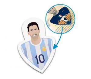 Zakładka Leo kartonowa do książek inspirowana legendarnym piłkarzem