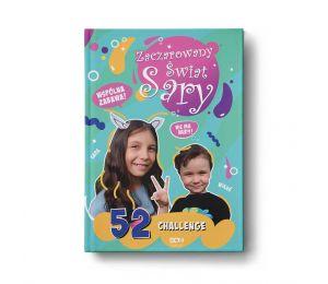 Okładka książki Zaczarowany Świat Sary. 52 challenge w księgarni sportowej Labotiga