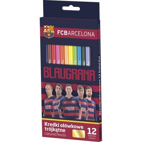 Kredki ołówkowe 12 kolorów FC Barcelona ASTRA