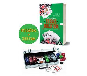 Pakiet: Strategie Texas Hold'em + Zestaw do pokera 300 żetonów