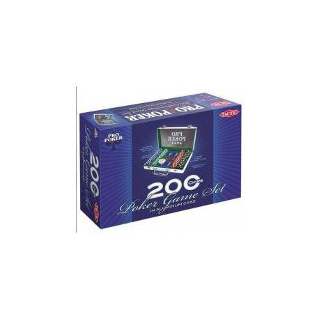 Pro Poker 200 żetonów w aluminiowej walizce