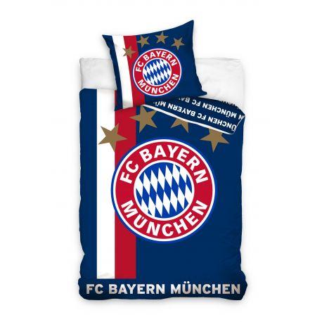 Pościel niebieska Bayern Monachium (160x200 + 70x80)