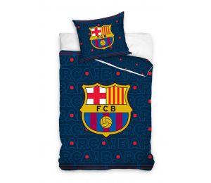 Pościel granatowa, logo FC Barcelona (160x200 + 70x80)