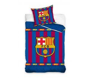 Pościel paski i logo FC Barcelona (140x200 + 70x80)