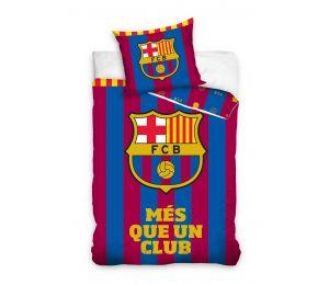 Pościel paski i logo FC Barcelona (160x200 + 70x80)
