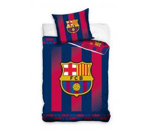 Pościel granatowo czerwone wytarte pasy FC Barcelona (160x200 + 70x80)