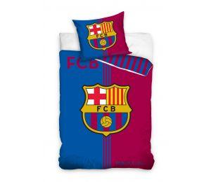 Pościel granatowo czerwone wytarte pasy FC Barcelona (140x200 + 70x80)