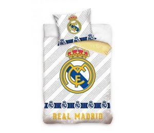 Pościel dwukolorowa logo Real Madryt (160x200 + 70x80)
