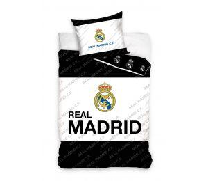 Pościel biały środek, logo Real Madryt (160x200 + 70x80)