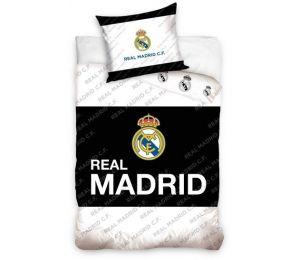 Pościel czarny środek, logo Real Madryt (160x200 + 70x80)