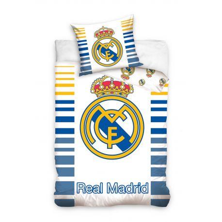 Pościel napis i logo Real Madryt (160x200 + 70x80)