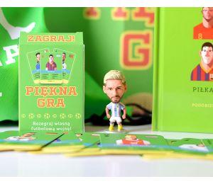 Piękna gra + figurka Leo Messi + plecak + karty