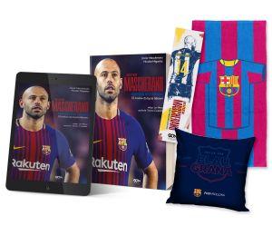 Pakiet: Javier Mascherano + ebook + zakładka + ręcznik pasy + poduszka