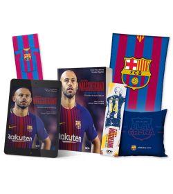Pakiet: Javier Mascherano + ebook + zakładka + ręcznik pasy + poduszka + koc