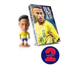 Pakiet: Neymar. Magik z Brazylii + figurka Neymar
