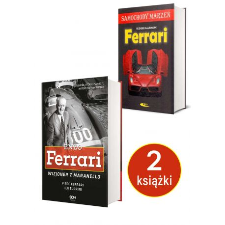 Okładka książki Enzo Ferrari. Wizjoner z Maranello dostępnej w księgarni sportowej Labotiga.pl