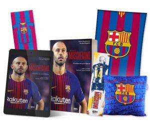 Pakiet: książka Javier Mascherano + ebook + zakładka + ręcznik pasy + poduszka + koc