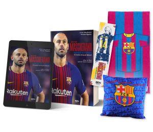 Pakiet: książka Javier Mascherano + ebook + zakładka + ręcznik pasy + poduszka