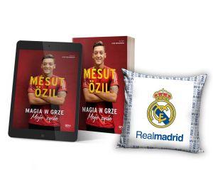 Pakiet: Mesut Özil + ebook + poduszka biała Real Madryt | książki sportowe Labotiga.pl