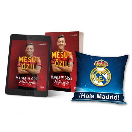 Pakiet: Mesut Özil + ebook + poduszka granatowa Real Madryt | książki sportowe Labotiga.pl