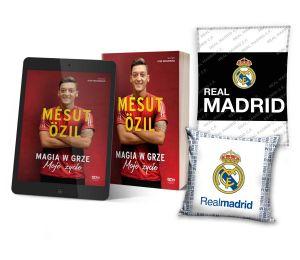 Pakiet: Mesut Özil + ebook + poduszka biała + koc Real Madryt | książki sportowe Labotiga.pl