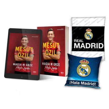 Pakiet: Mesut Özil + ebook + poduszka granatowa + koc Real Madryt | książki sportowe Labotiga.pl
